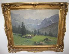 Neogrády Antal: Alpesi tájkép