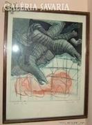 Skricka Ernst : akvarell - rézkarc 1.