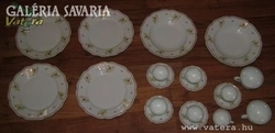 HAAS & CZJZEK antik cseh tányér és csésze készlet