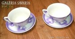 Antik kézzel festett OSTMARK-KERAMIK csészék 2db