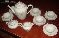 Csodaszép jelzett - ritka - német teáskészlet 6 személy