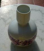 Hollóházi retró öblös váza