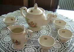 Tulowice - álomszép lengyel barokk - jelenetes teáskészl