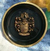 Karnten címerével réz falidísz - falitányér