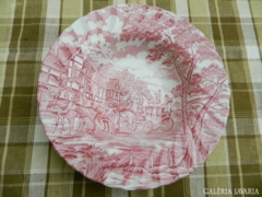 Staffordshire Ironstone Myott Royal Mail pink mély tál