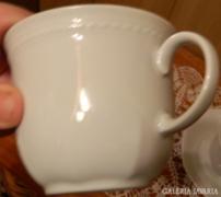 Fehér Schirnding Bavaria csésze pár kistányérokkal