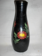 Kézi festéssel díszített retro váza - 27 cm