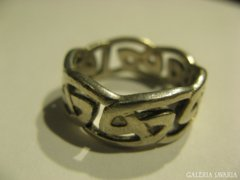 Vastag, jelzett, skóciából származó ezüst gyűrű
