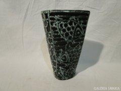 5423 Régi jelzett kerámia Gorka halas váza