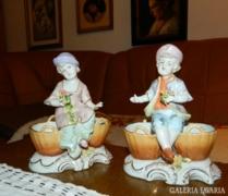 Milánói olasz porcelán páros