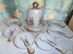 Orosz porcelán mártásos készlet