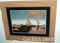 Keleti parafából, fakéregből stb. kézimunka kép