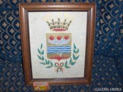 Üvegre festett kép szép keretben - 30,2 x 25,5 cm