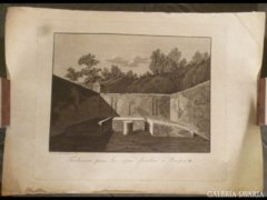 1825 T2 Antik metszet Pompei 1821