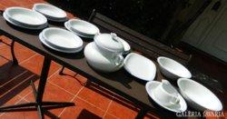 Bavaria Bareuther fehér kékszegélyes étkészlet