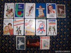 Régi kártyanaptár 1973 - 14 db