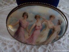 Francia porcelán bross - XX.sz. elejéről