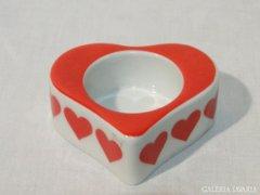 0513 FUNNY DESIGN porcelán szív alakú mécsestartó