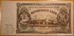 Lett (Latvijas)  20 latu 1935  RITKA !!!