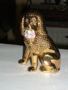 Porcelán kutya figura