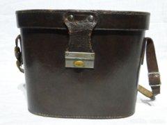 0557 Antik bőr távcső tok hord táska