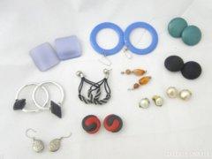 5542 Régi retro női fülbevaló 11 darab