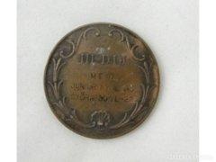 5969 Régi bronz evezős plakett GYŐR 1930