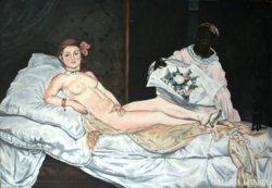 Manet Olympia akril festmény, másolat