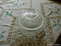 Antik hatalmas fedeles üveg bonbonier