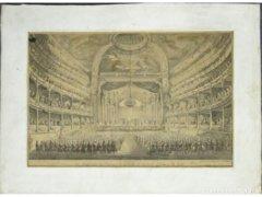 8336 Antik párizsi színház litográfia