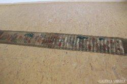 Kinai papirtekercs festett jelzett 275 x 40 cm KINA XIX. század