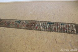 Kinai papirtekercs, festett, jelzett 275x40 XIX.sz