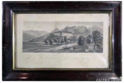 8258 Antik német litográfia TRIEST