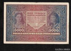 5000 Marek 1920 Lengyelország Ritka