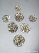 Ezüst antik pitykegombok 4db