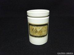 7919 Antik porcelán gyógyszerészeti tégely