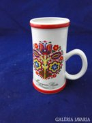 8991 Hollóházi kalocsai mintás porcelán bögre