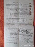 I.világháborús jegyzőkönyv igazolás AKCIÓ