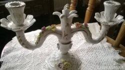 Régi ,jelzett porcelán gyertyatartó