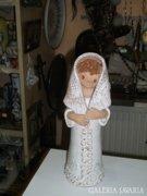 Kerámia kislány figura