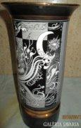 Hollóházi porcelán váza 26cm magas, Szász Endre