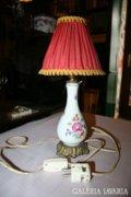 Herendi porcelán asztali lámpa kis virágos