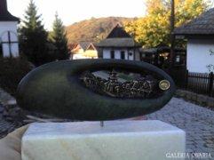 Hollókő kavics szobor (Zsebemben az Otthonom)