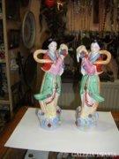 Japán porcelán női figurák