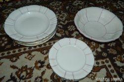 Bohemia Royal Ivory antik csontszínű tányér -készlet