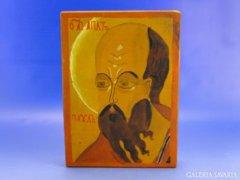 6950 Orosz ikon fa táblán