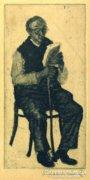 Ábrahám Rafael : Olvasó férfi
