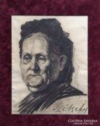 Női portré, 1880 k., szignált