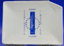 0A190 Jelzett Francia LIMOGES porcelán hamutál