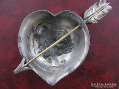 VALENTIN NAP különleges szív ANTIK WMF angyal
